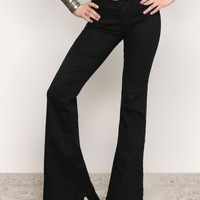 Sadie Bell Bottom Jeans - Black - Clothes at Gypsy Warrior