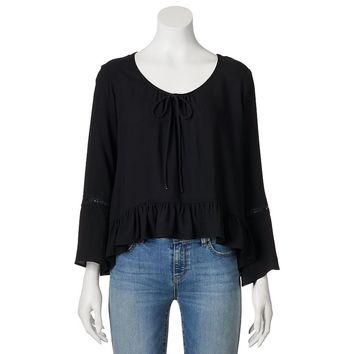 Mudd Bell Sleeve Peasant Top - Juniors, Size: