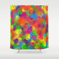 Paint Can Florals Shower Curtain by MargaretNewcombArt