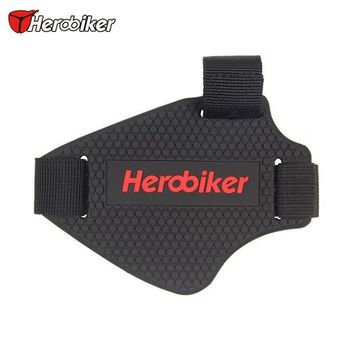ac NOOW2 HEROBIKER Moto Riding Shoes Gear Shift Pad Motorbike Racing Boots Removable Protective Gear Guards Scuff Mark Protector Cover