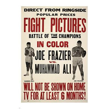 JOE FRAZIER MUHAMMAD ALI FIGHT PICTURES vintage ad poster 24X36 champions HOT