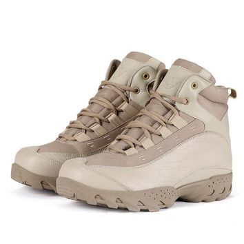 ESDY new outdoor help jungle desert knife pattern boots military quality leather male