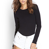 FOREVER 21 PLUS Crew Neck Knit Top