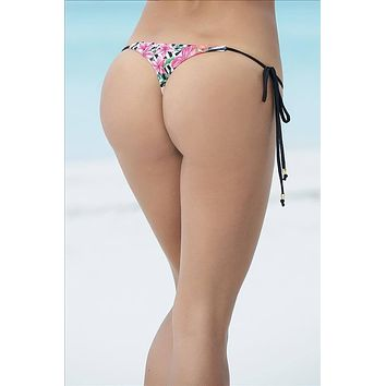 Mapale Print Micro Side Tie Thong Bottom G-String Bikini Swimwear Separates (Many colors/prints available)