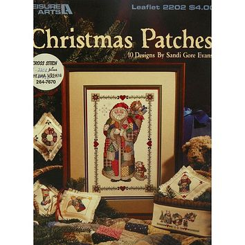 Christmas Patches - Counted Cross Stitch Leaflet - Leisure Arts
