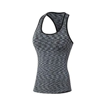 Running Vests Jogging New Women Girls Quick Dry Tight Vest Tank Sports Running Fitness Slim Yoga Outdoor Vest KO_11_1