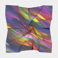 Colorful digital art splashing G398 Square Scarf Square Scarf