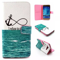 Anchorr & Infinite Leather Case Cover Wallet for iPhone & Samsung Galaxy