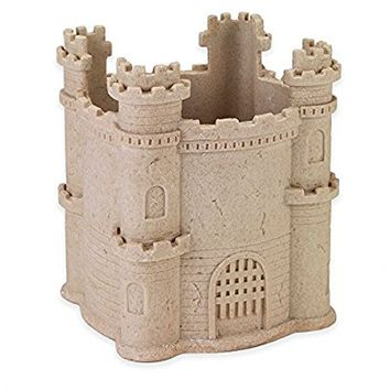 Decorative Wastebasket with Charming Whimsical Sand Castle Avanti Collection