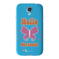 Sassy - Hello Gorgeous #10433 Full Wrap High Quality 3D Printed Case for Samsung Galaxy S4 by Sassy Slang