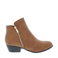 Side Zipper Ankle Bootie