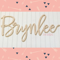 """Calligraphy Modern Script Connected Wooden Letters 1/4"""" Large 
