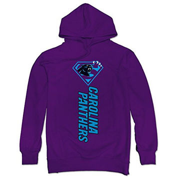TIKE Men's Super Diamond Logo Carolina Panthers Hood Sweatshirt Color Purple Size XXL