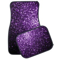 Beautiful Purple glitter sparkles Car Mats Set by PLdesign