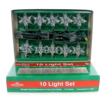 Christmas 10 PRISM STAR LIGHT SET Plastic Lights Lighting Bulbs Ul0005/Gc