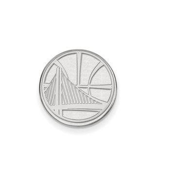 NBA Golden State Warriors Lapel Pin in 14k White Gold