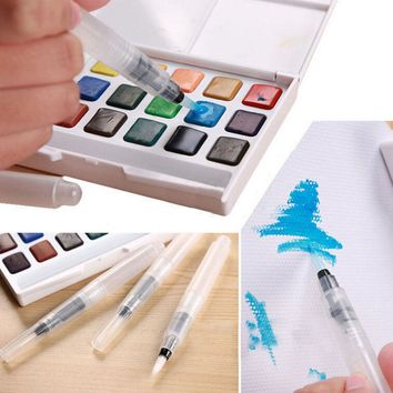 3 Pcs ChildrenRefillable Pilot Water Brush Ink Pen for Water Color Calligraphy Drawing Painting Illustration Pen Supplies