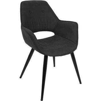 Mustang Contemporary Accent Chair, Black (Set of 2)