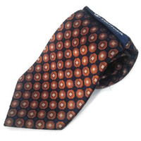 "Elegant Necktie Stafford Essentials Men's Silk Tie Diamond 4""x 58"" Blue Orange Classic Necktie Men's Gift Men Silk Tie Retro Necktie Gift"