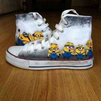 DCCK1IN minion shoes converse
