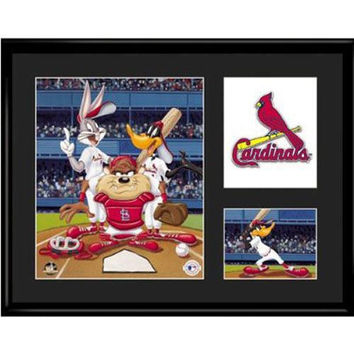 St. Louis Cardinals MLB Limited Edition Lithograph Featuring The Looney Tunes As St. Louis Cardinals