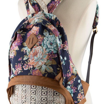 Lace Backpack Floral Backpack Back Pack Hipster Backpack Back to School - By PiYOYO