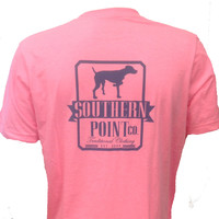 Southern Point Co Signature Logo T Shirt - Neon Fuscia