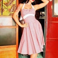The Daisy Dress in Red Gingham from Pinup Couture