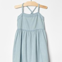 Gap Girls Cross Back Chambray Dress