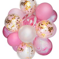 """20pcs/lot 12""""Confetti Balloon Bouquet for Baby Shower Birthday Wedding Party Decoration Photobooths, Backdrop Helium Balloons"""