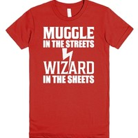 Muggle In The Streets Wizard In The Sheets T Shirt-Red T-Shirt
