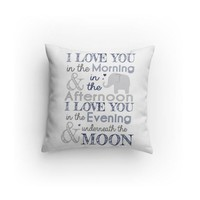 I love you Elephant Decorative Pillow