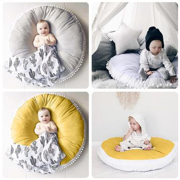 Pure Cotton Wool Ball Baby Round Rug