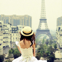 city, dress, girl, hat, paris - inspiring picture on Favim.com