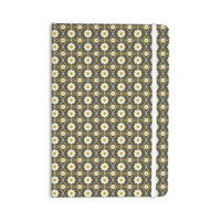 "Nandita Singh ""Floral Grey"" Brown Pattern Everything Notebook"