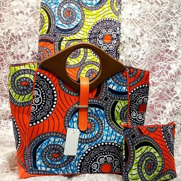 Zabba Designs Fashion African Print Hobo Bag with Wallet