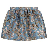 Blue & Gold Jacquard Skirt