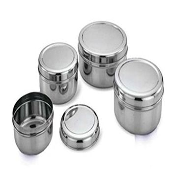 King International Stainless Steel Storage Box,Storage Containers Food storage containers Steel Canisters with Lid Set Of 4pcs,Small, Medium and Large