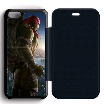 Ninja Turtles Raphael Leather Wallet Flip Case iPhone 5C