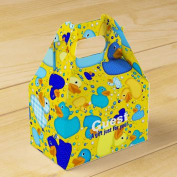 Ducks-n-Dots-Style-3-Drk Yellow-GABLE FAVOR BOX