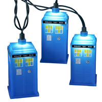 Kurt Adler UL 10-Light Doctor Who Blue Tardis Light Set