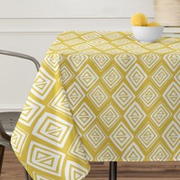 Heather Dutton Diamond In The Rough Gold Tablecloth