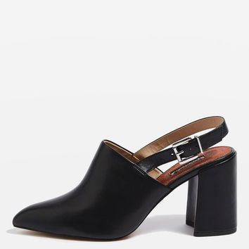 GROOVE Slingback Block Heels - Shoes