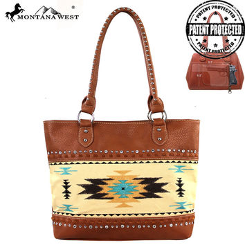 Montana West MW159G-8317 Aztec Concealed Carry Handbag