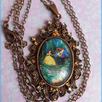 Happy Here with Me- Disney's Beauty and the Beast necklace.