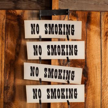 Vintage No Smoking Sign