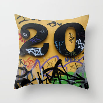 graffiti no. 20 Throw Pillow by g-man