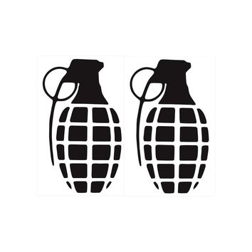 Pair of Grenades Vinyl Decal Sticker Car Truck Window Wall Bumper