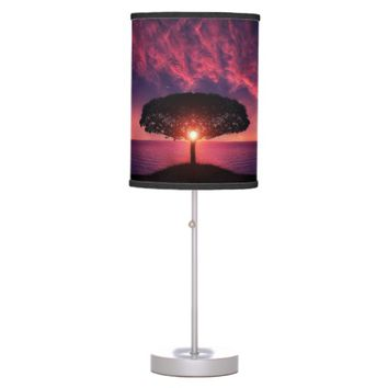 Sky with Tree Standing Lamp