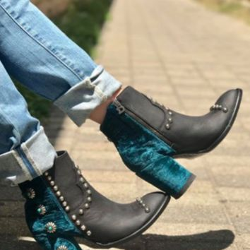 Double D Ranch Tahoma Boots by Old Gringo~ Teal
